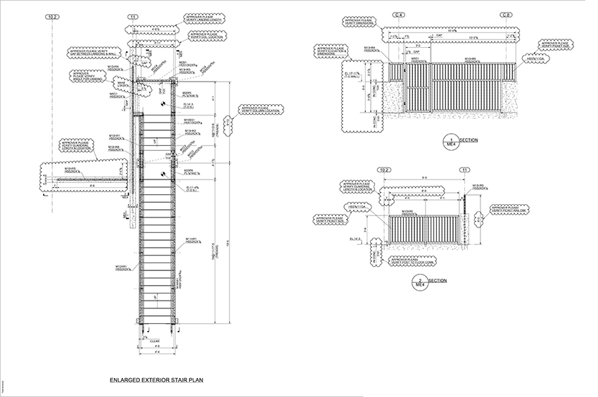 Detailing Drawing Samples Stair Railing Gate