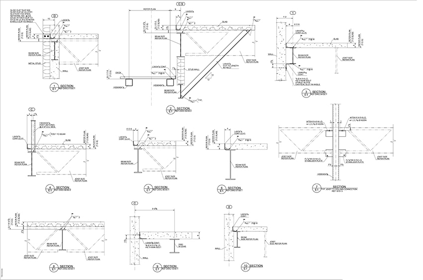 Structural Steel Detailing Drawing