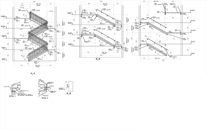 Structural Steel Stair Drawings Examples 12