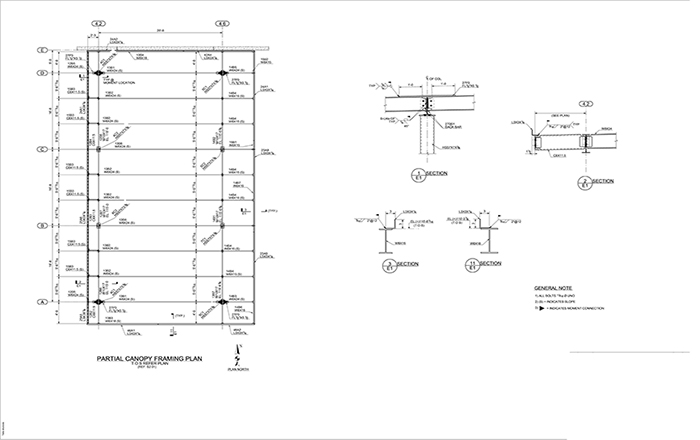 Structural Steel Detailing Drawing 02